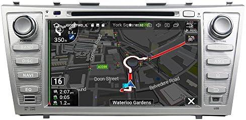 KUNFINE Android 9.0 8核自動車GPSナビゲーション マルチメディアプレーヤー 自動車音響 トヨタ TOYOTA CAMRY 2006 2007 2008 2009 2010 2011 自動車ラジオハンドル制御WiFiブルースティスト