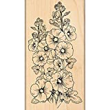 Penny Black Hollyhocks Decorative Stamp