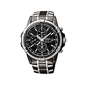 51 dBAVJM%2BL. SS300  - Seiko Men's Two-Tone Chronograph Solar Dress Watch