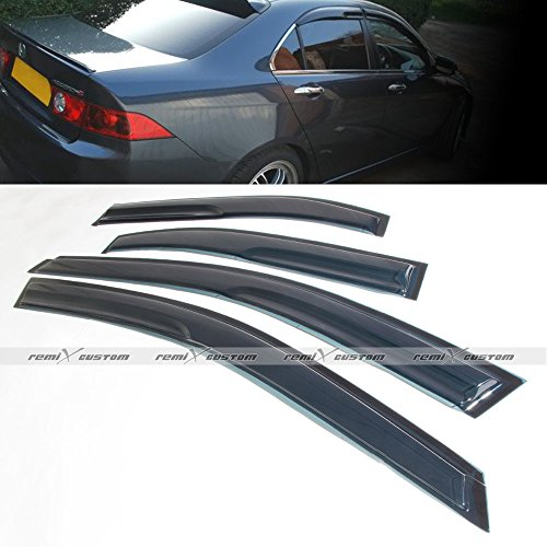 2003 2004 2005 2006 2007 Acura TSX Mugen Style Door Window Defector Shade Rain Guard Visors