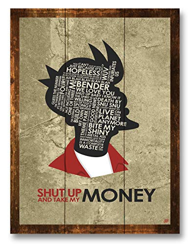 Fry,Shut UP and TAKE My Money Rustic Wood Art Print by Stephen Poon (9