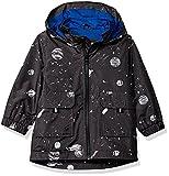 Carter's Baby Boys His Favorite Rainslicker Rain Jacket, Grey Space Print, 18M