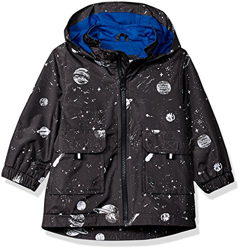 Carter's His Rain Jacket Print Grey Boys Space Baby Favorite Down Jacket Alternative Rainslicker ZEUnrZqR