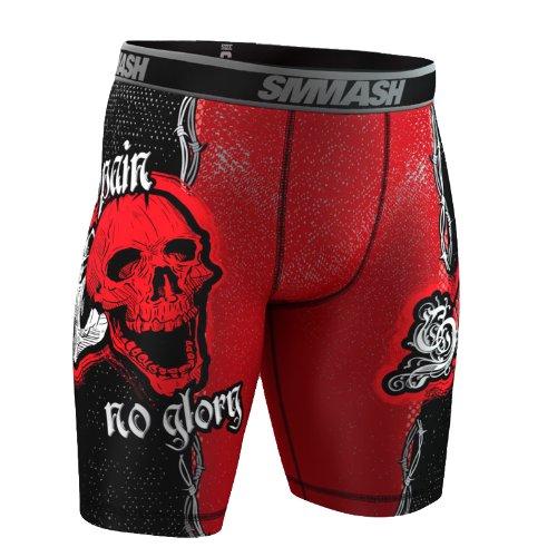 SMMASH Vale Tudo Shorts Skull Red