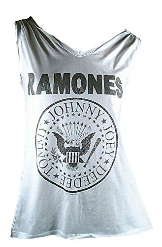 Design amplificata Ho Sweet per bianca ufficiale Ramones andare donna Lady Vip Star The Merchandise Rockstar Canotta fatti Rock vdIwqv