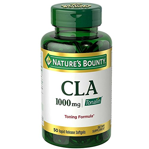 Nature's Bounty CLA 1000 mg Softgels 50 Soft Gels (Pack of 2)