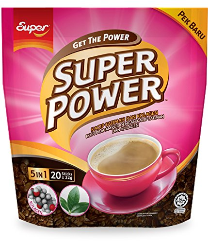 Super Power 5 in 1 Collagen Coffee, 20-Count