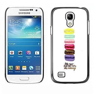 Be Good Phone Accessory // Dura Cáscara cubierta Protectora Caso Carcasa Funda de Protección para Samsung Galaxy S4 Mini i9190 MINI VERSION! // Macaroons Yellow Blue Pink Brown Purpl