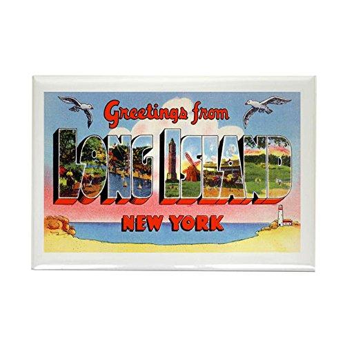 CafePress Long Island New York Greetings Rectangle Magnet, 2