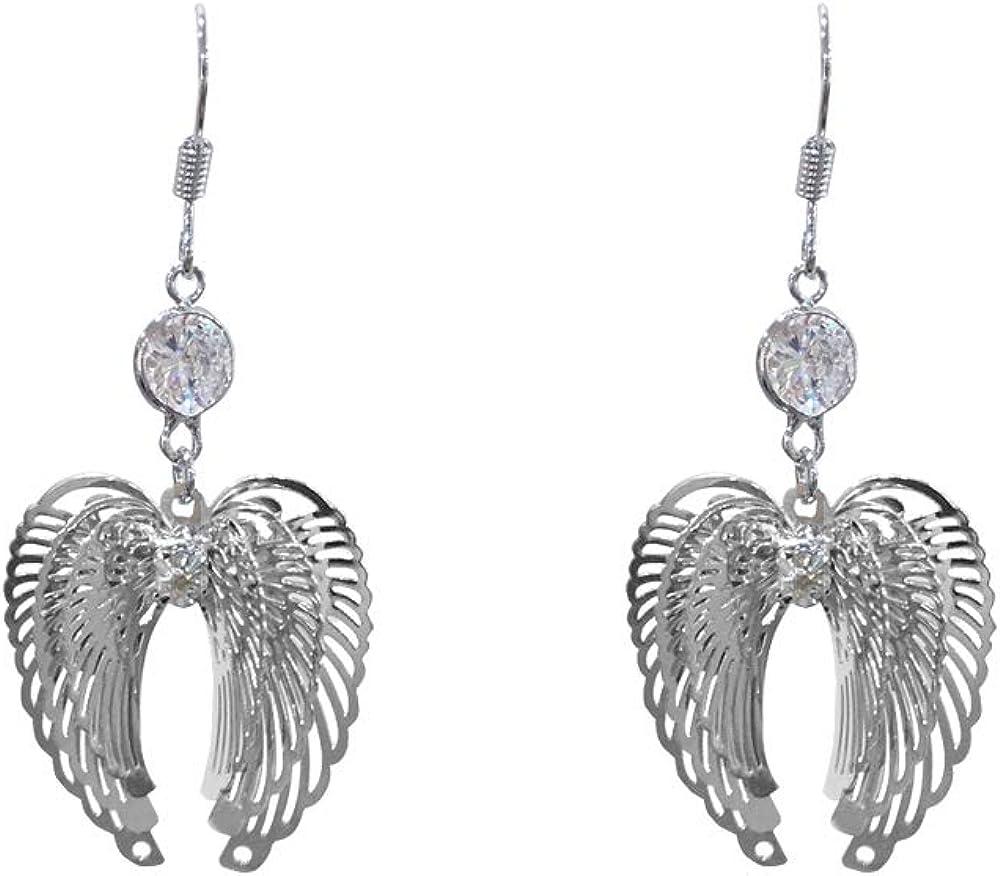 MiniJewelry 3D Angle Wings Drop Hook Earrings Sterling Silver Earrings for Girls Women Sister Daughter Friends Birthday Gfit