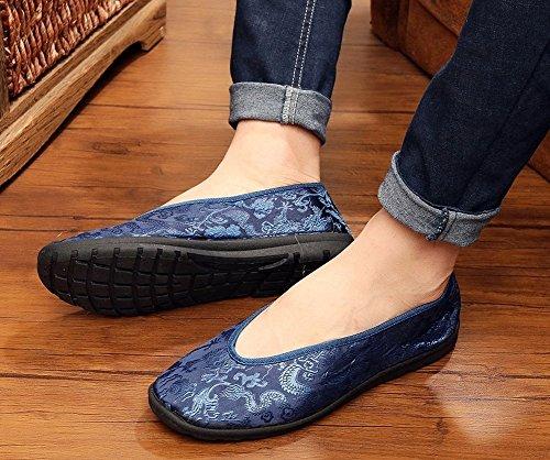 Wohnungen chinesischen Vintage Eu 44 lazutom Taichi Schuhe Herren Kungfu bequemer Schuhe Stil 1Xg1xFndqE