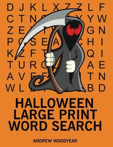 Halloween Large Print Word Search: 25 Halloween Themed Word Search Puzzles (Halloween Word Search) (Volume 1) -