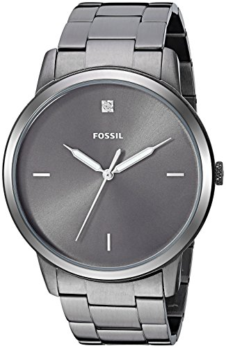 Fossil Men's The The Minimalist 3H Quartz Stainless-Steel-Plated Strap, Grey, 21.5 Casual Watch (Model: FS5456