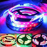 Dreamy Lighting 16.4ft 5m SMD 5050 270leds Waterproof Flexible Multi Magic RGB Dream Color Horse Race Flashy LED Strip Light 54led/m+ 25 Key Remote Controller