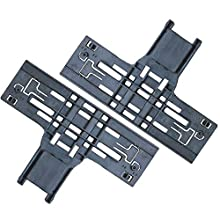 Cykemo W10546503 Dishwasher Upper Rack Adjuster for Whirlpool Dishwasher Parts Replaces W10418314, W10306646, WPW10546503 (2 Pack)