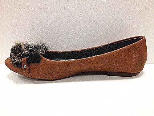 C35 piatta mocassines colore cammello Scarpe Donne ballerine 8nqHxCRt
