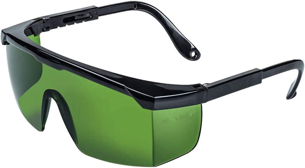 Gafas de Protección Gafas Protectoras para Depilación HPL/IPL Gafas para Dispositivo de Depilación HPL/IPL Sistema de Depilación Permanente Gafas para Cuerpo Cara y Zona Bikini(Verde oscuro)