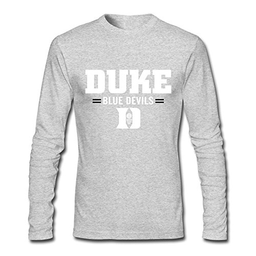 Duke Blue Devils Basketball T-shirts For Men L HeatherGray - New Duke Blue Devils T-shirt