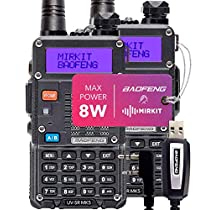 Mirkit Radio Baofeng UV-5R MK3 and MK5 2019 1800 mAh Li-Ion B...