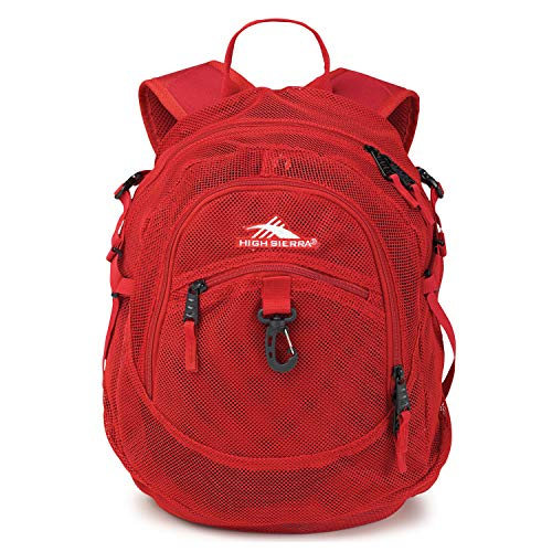 High Sierra Airhead Mesh Backpack, Crimson