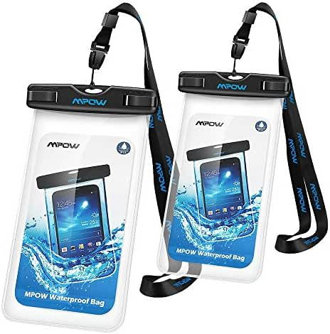 Mpow Waterproof Case, Universal Dry Bag Pouch for Outdoor Activities for Devices up to 6.0