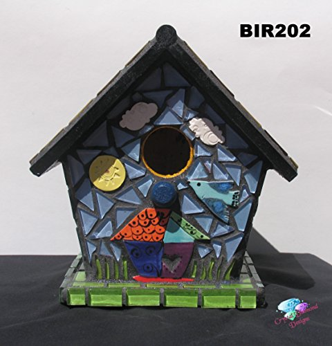 - Mosaic Birdhouse - Handmade Look great at your Home BIR202