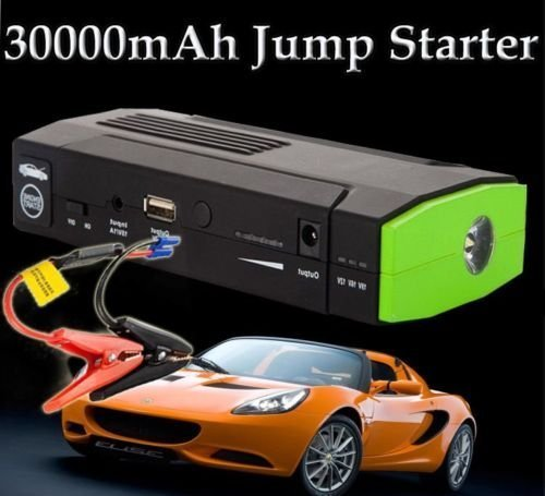 30000mAh Car Jump Starter HIGH CAPACITY Power Bank Battery USB Universal Adapter Travel Charger Mobile Devices Laptop Smartphones iPhone Android Jump Start Vehicle Auto Emergency SOS Flashlight Larger Power Than > 20000 & 13600mAh Batteries