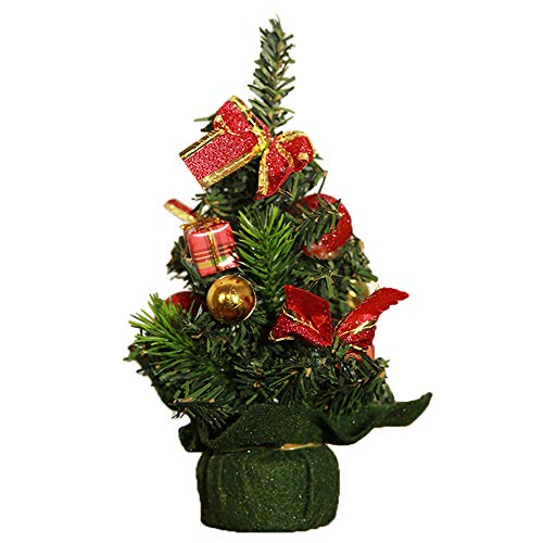 Merry Christmas Tree Bedroom Desk Decoration,Vanvler Mini Xmas Tree Children Toy Gift Office Home Decor Clearance ! 20cm (E, 20cm)