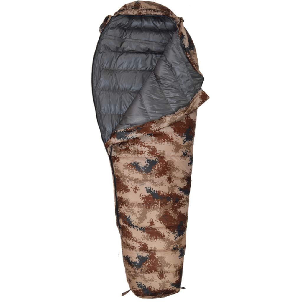 ou Matelas de Sol, RXF Sac de Couchage Momie ultral/éger Camouflage ext/érieur Chaud pour Adultes ou Adolescents Tente Couleur : # 2, Taille : 82.67 * 31.49 * 19.68in 1000g Camion