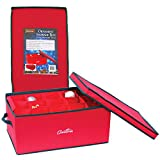 Christmas Ornament Storage Container with 2 Removable Trays and 30 XL Compartments (22.5