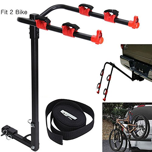 2 Bike Rack Hitch Carrier Bicycle Hanger Carrier Fit
