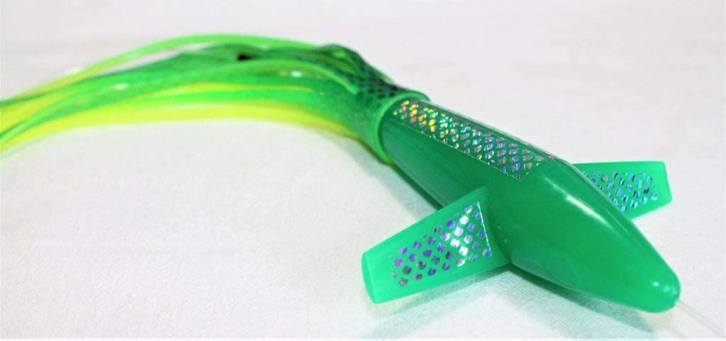 Big Game Fishing Teaser Bird and Green Bullet Machine Lures Great for Tuna