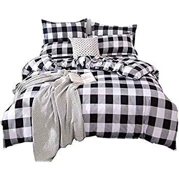 Amazon Com Wake In Cloud Washed Cotton Duvet Cover Set