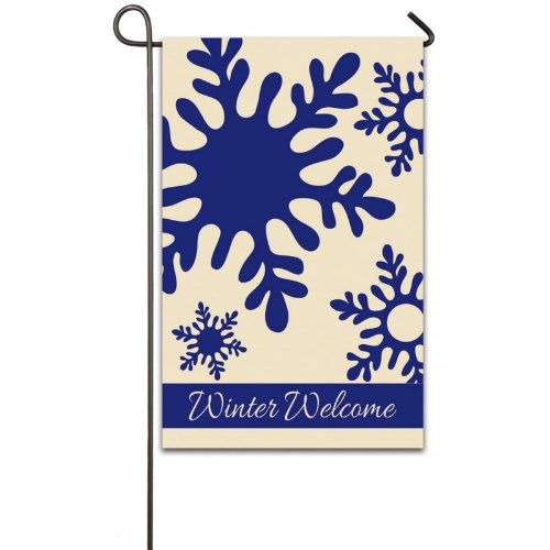 Cheap Winter Welcome Garden Flag