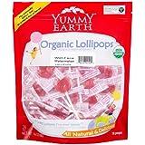 Yummy Earth Organic Lollipops Wet-Face Watermelon - 12.3 oz