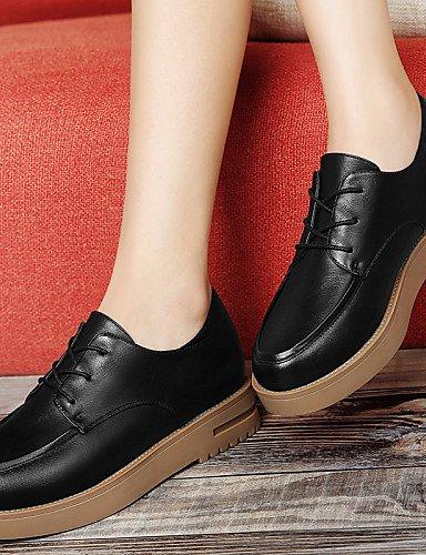 ZQ 2016 Zapatos de mujer - Tacón Plano - Tacones / Plataforma - Tacones - Oficina y Trabajo / Vestido / Casual / Deporte - Sintético -Negro / , red-us8 / eu39 / uk6 / cn39 , red-us8 / eu39 / uk6 / cn3 red-us6 / eu36 / uk4 / cn36