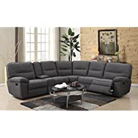 Emerald Home U8040-17-05 Alberta Modular Console Sofa Collection, Standard, CHARCOAL Gray