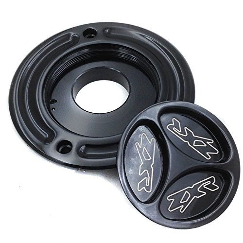 Motorcycle Gas Cap Fuel For Kawasaki Zx 14R Z1000 10R 9R 6R 636 Zzr600 650R Er-6 Black by SMT-MOTO
