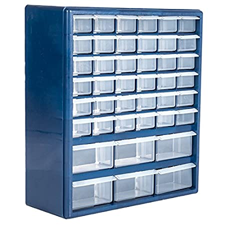 Stalwart Deluxe 42 Drawer Compartment Storage Box Trademark Tools 75-3021