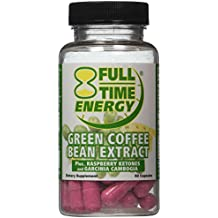Full-Time Energy Pure Green Coffee Bean Extract Plus Raspberry Ketones and Garcinia Cambogia Complete Complex Capsules- Lose Weight Fast and Burn Fat With These Extreme Weight Loss Diet Pills - The Best Natural Fat Burners and Weight Loss Supplement Formula That Works for Men and Women