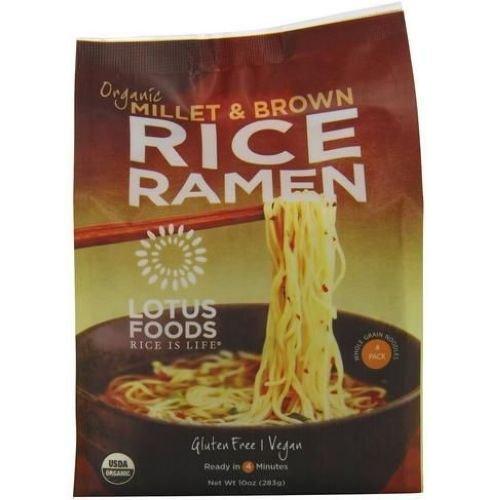 Lotus Foods Organic Millet and Brown Rice Ramen, 10 Ounce - 4 per pack - 6 packs per case.