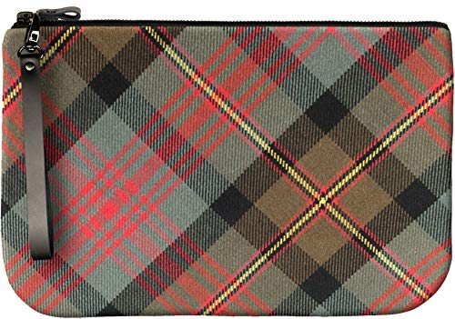 Maclennan Large Enough Medium Leather Clutch With Bag Fit to iPad Tartan an wUIYOq1Ix