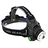 KOLPCTT Rechargeable Headlamp LED, 3 Modes Headlight, T6 Flashlight Headlamp, Battery Powered Helmet Light for Camping, Running, Outdoor fishing?Hiking and Reading?present a charger