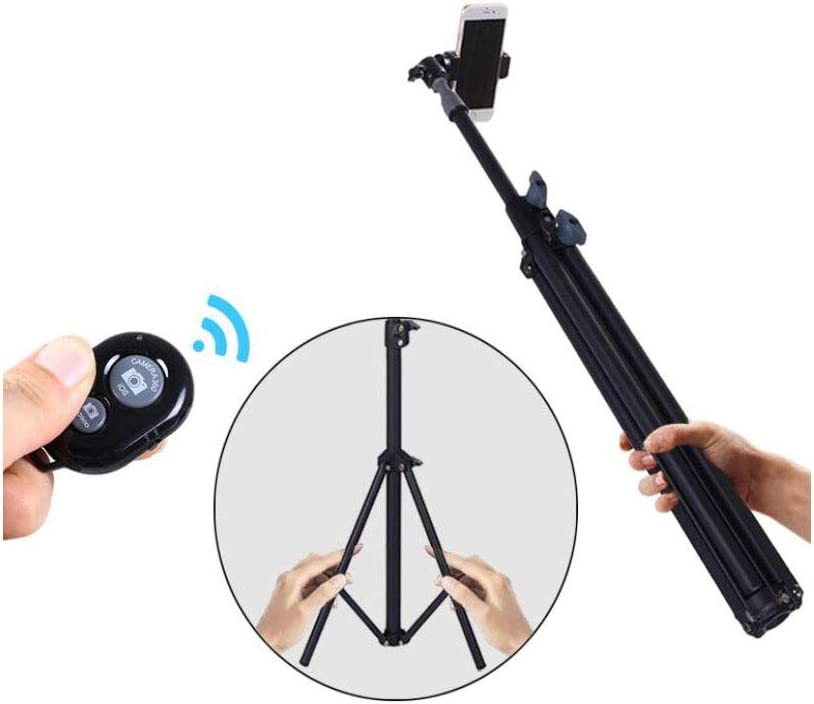 Camera Tripod Remote Self-Timer Recording Video Tripod Flat Micro-SLR Camera Expandable with Mobile Phone Clip-on Installation Compatible with 4-6.5-inch Smart Phone Kaiyitong Mobile Phone Holder