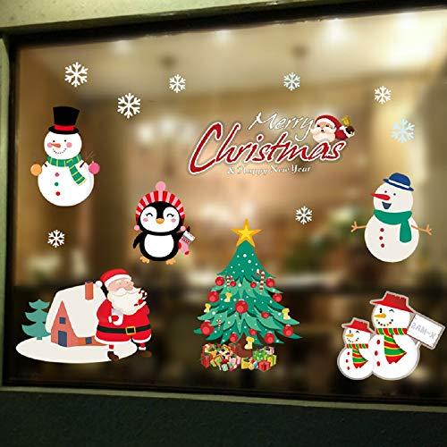 Hidreams 195 PCS Snowflakes Christmas Window Clings Decal Stickers, Xmas Window Stickers Decal 8 - Christmas Decal Sticker