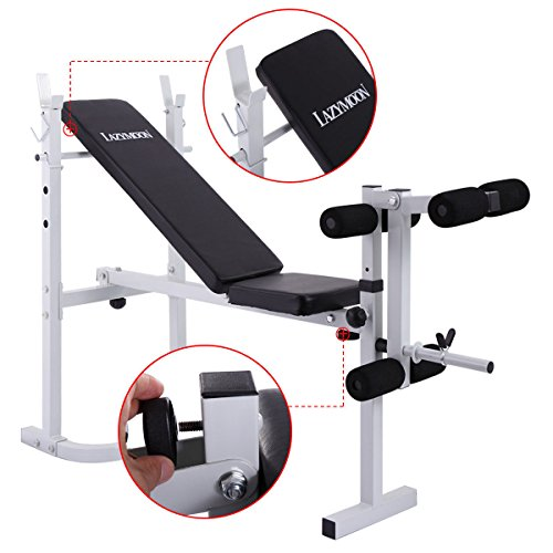 JAXPETY Adjustable Weight Bench Barbell Incline Flat Lifting Workout Body Press Home Gym by JAXPETY