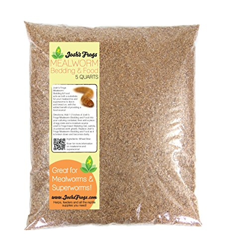 Josh's Frogs Mealworm Bedding (5 Quarts/2.9 LBS) (Best Substrate For Mealworms)
