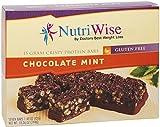 NutriWise - Chocolate Mint Crispy Diet Protein Bars (7 bars)