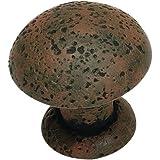 Olde World Mushroom Knob Finish: Rust, Size: 1.37'' H x 1.37'' W x 1.31'' D