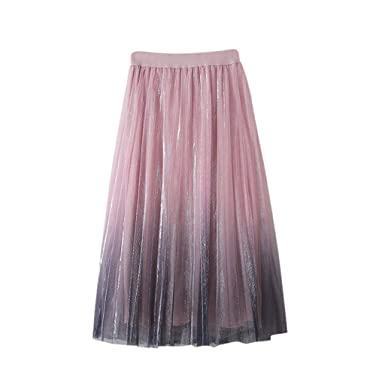 TYTUOO - Falda de Tul para Mujer con Falda de Tul, Varias Capas ...